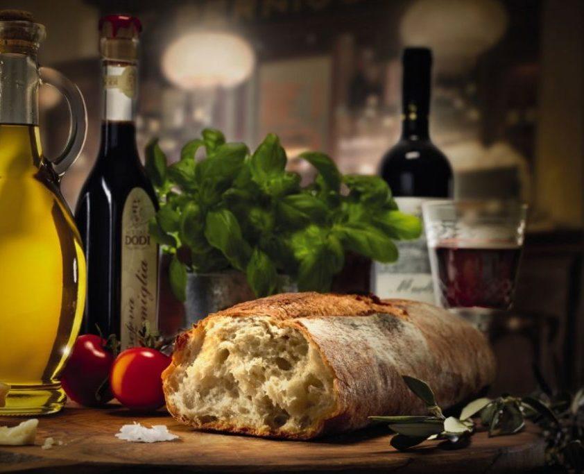 pane olio e vino